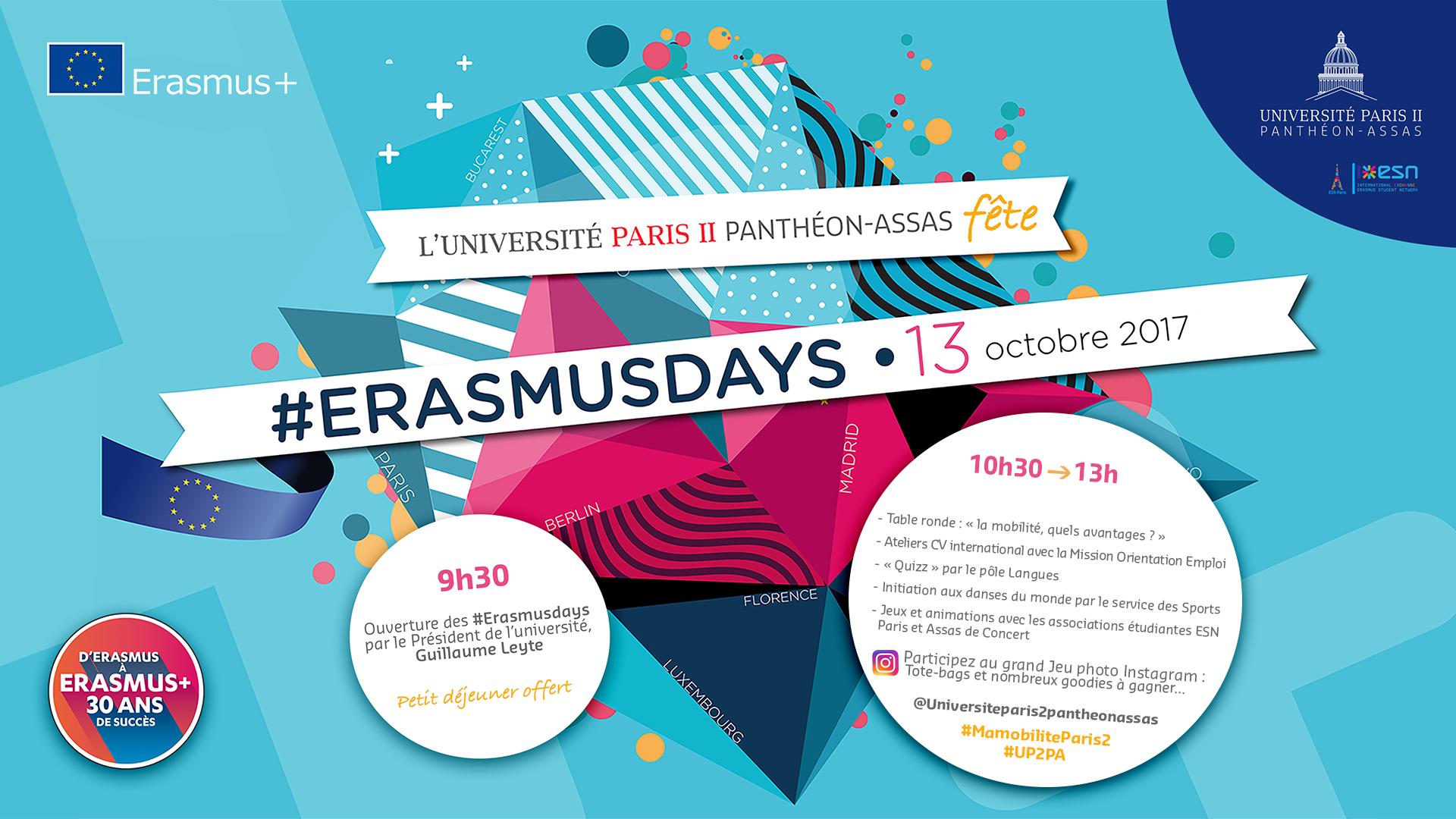 Affiche Erasmusdays 2017