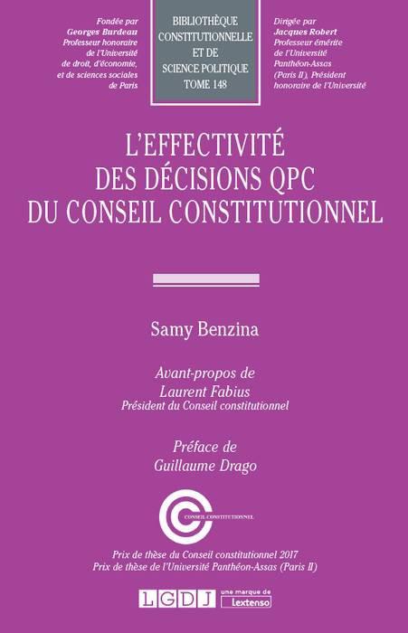 L'effectivité des décisions - QPC du Conseil constitutionnel - Samy Benzina