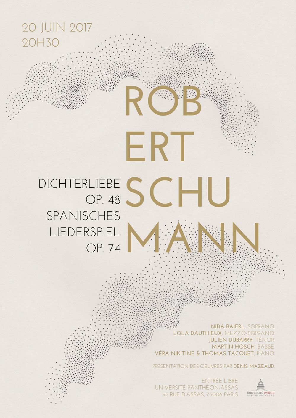 Affiche Récital Robert Schumann au centre Assas