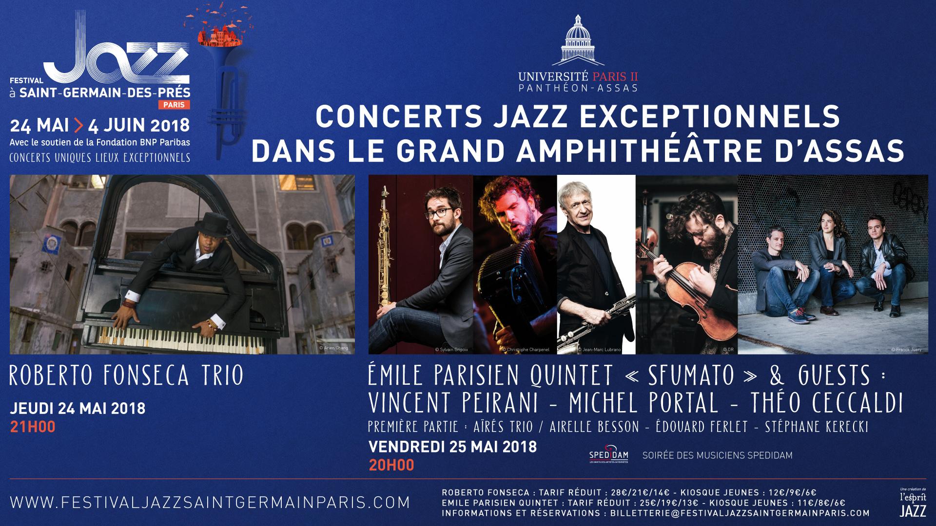 Visuel Festival de Jazz au centre Assas