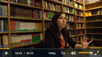 Capture écran de la vidéo de Claudia Cavicchioli