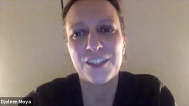 Capture écran de la conférence vidéo de Djoleen MOYA