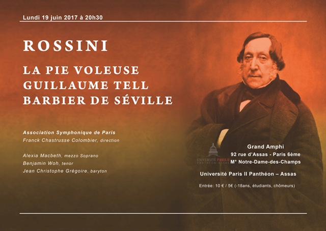Affiche concert Rossini à Assas