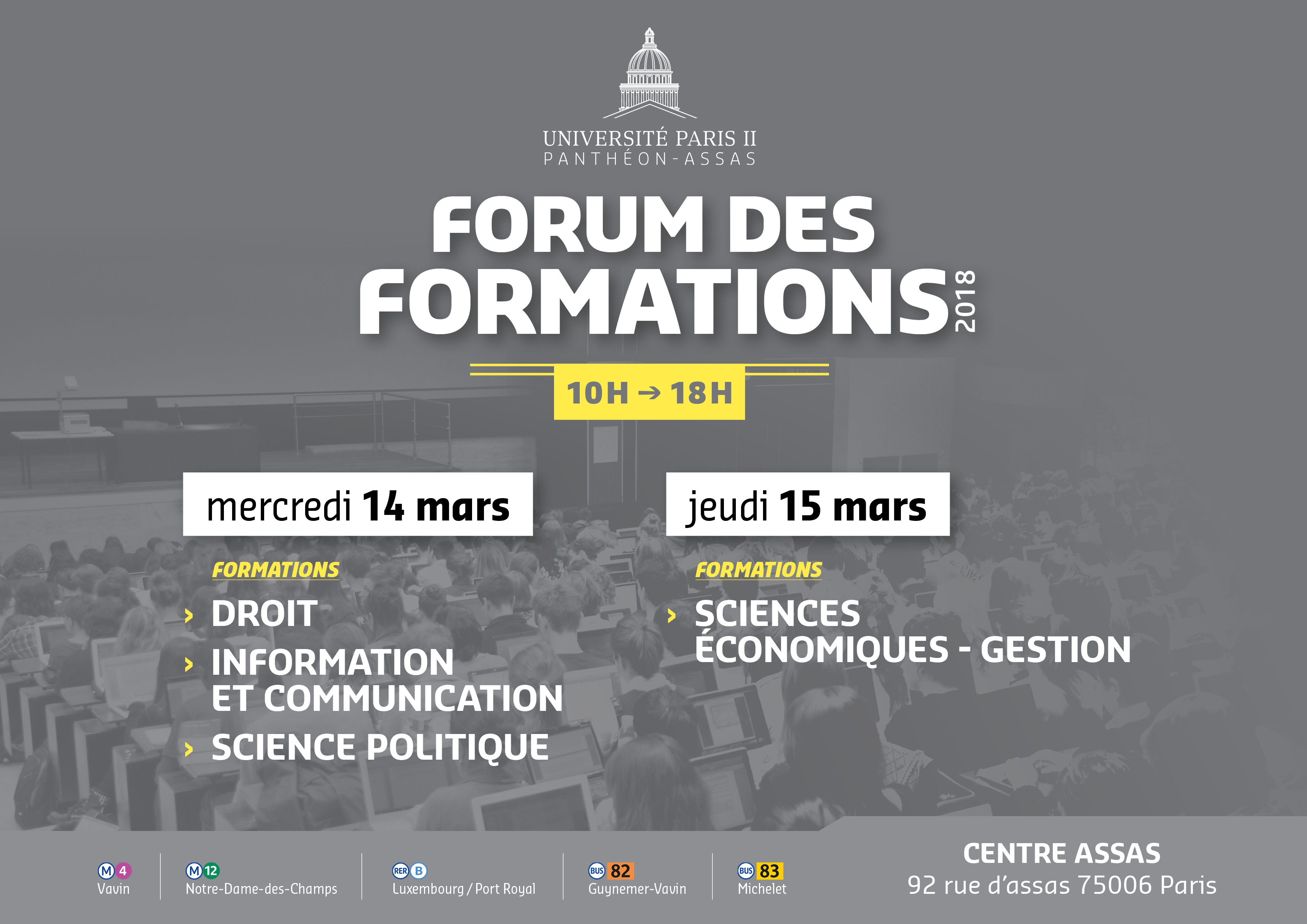 Forum des formations 2018