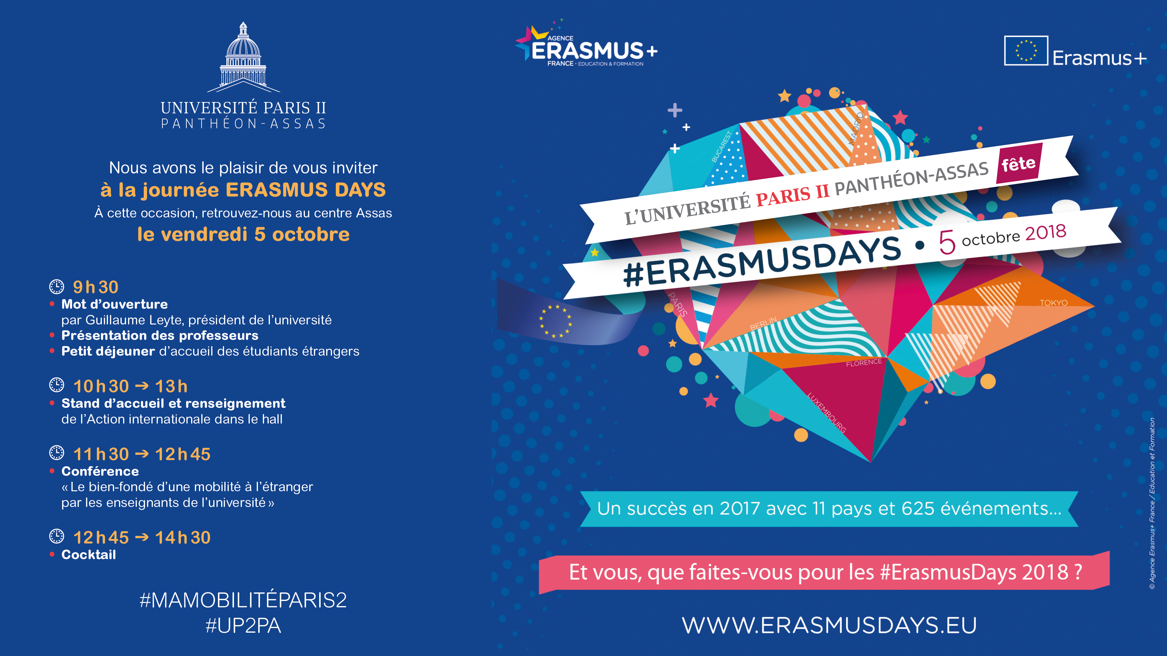 Rendez-vous au centre Assas pour les #Erasmusday