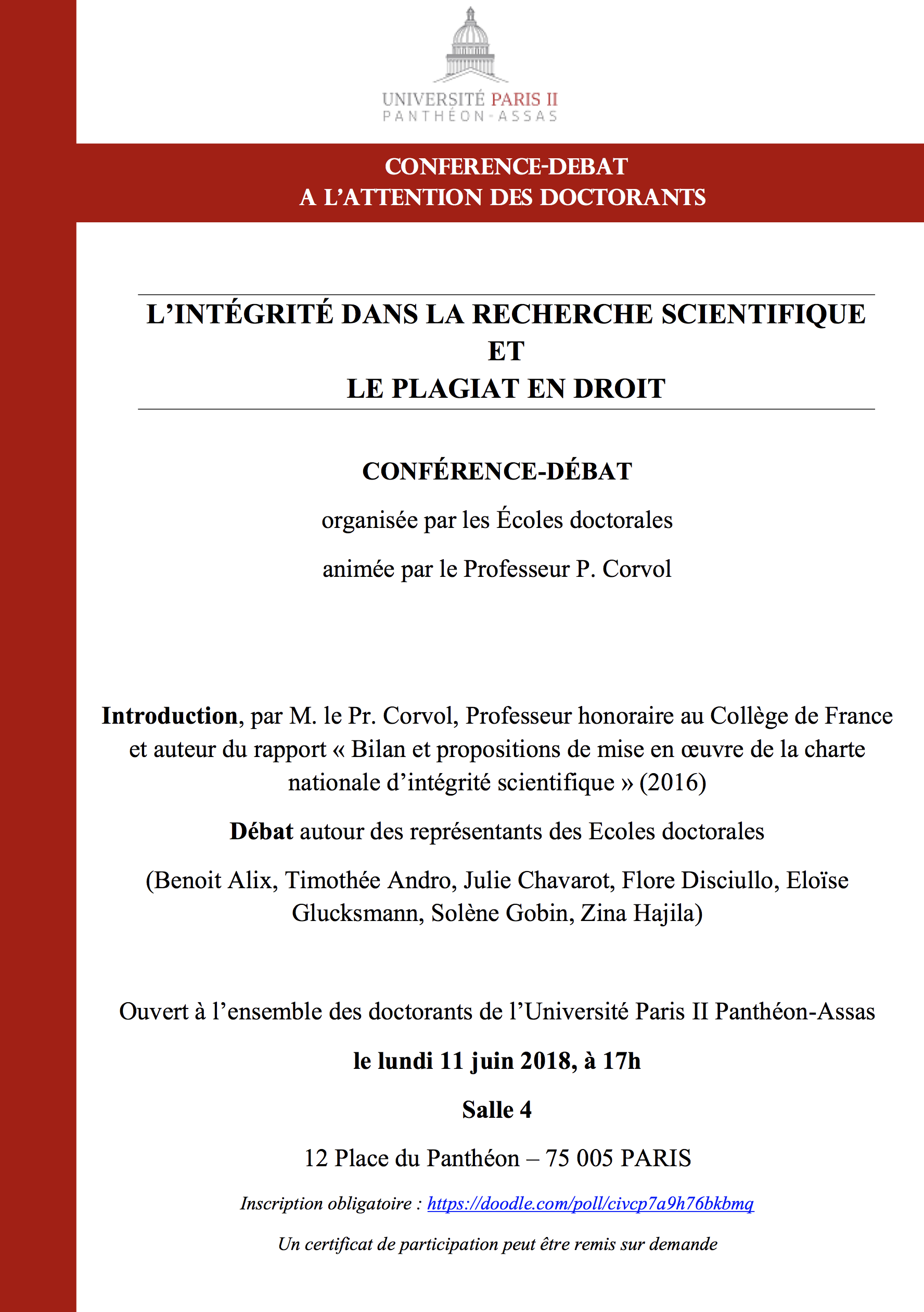 L'intégrité dans la recherche scientifique et le plagiat en droit
