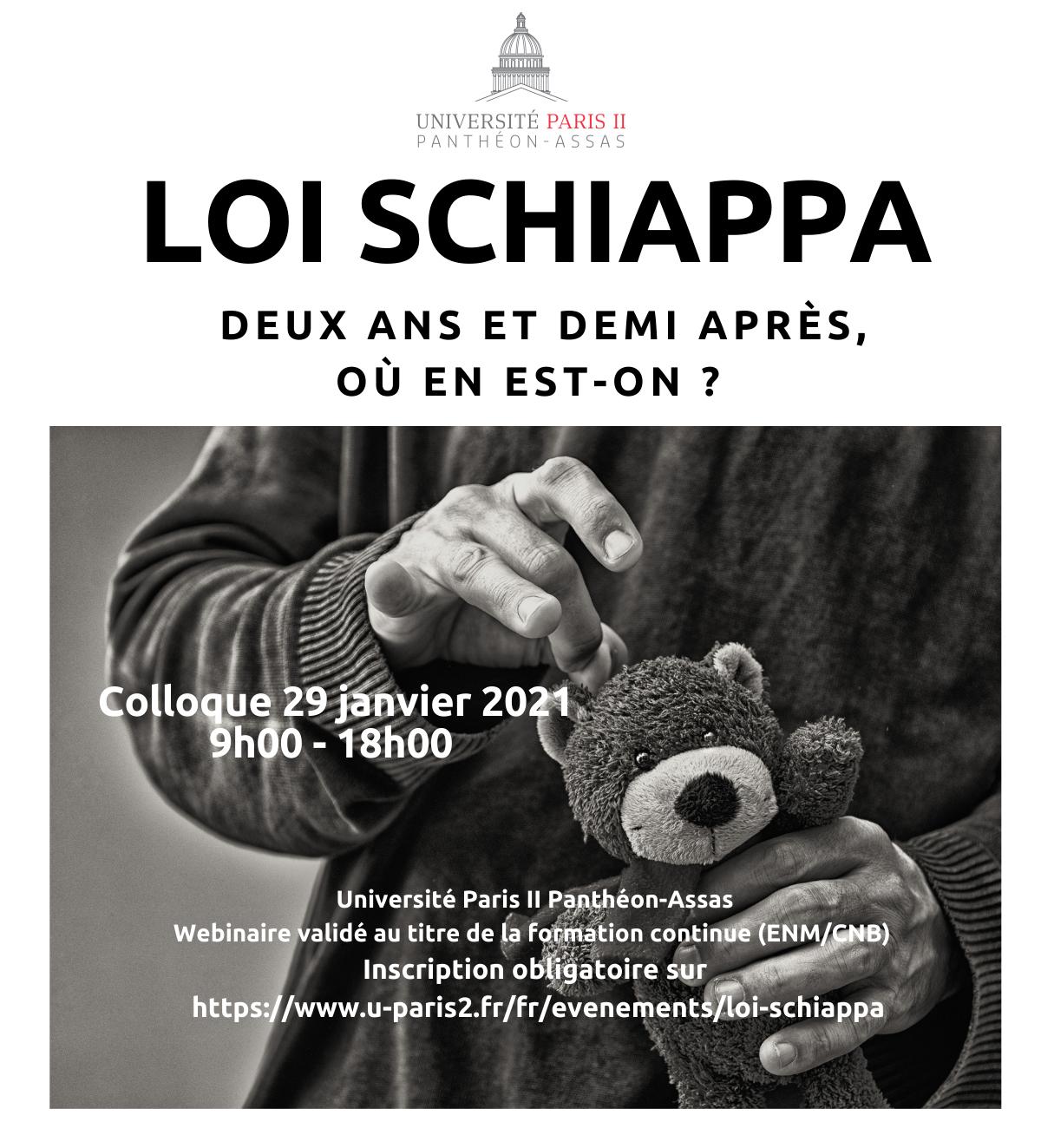 Affiche de la conférence  La « loi Schiappa » contre les violences sexuelles et sexistes, deux ans et demi après, où en est-on ?