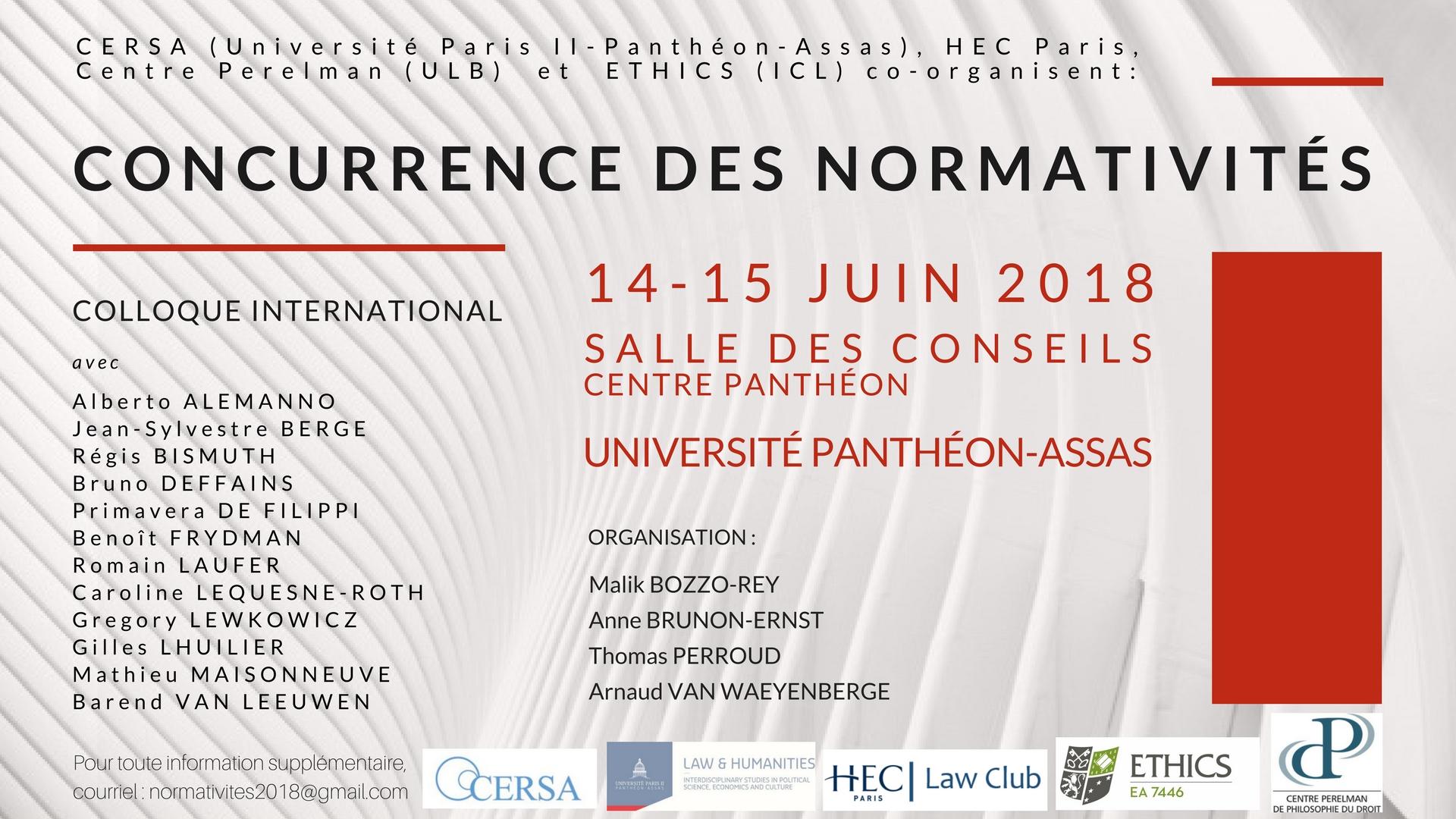 Affiche du colloque du 14 et 15 juin 2018