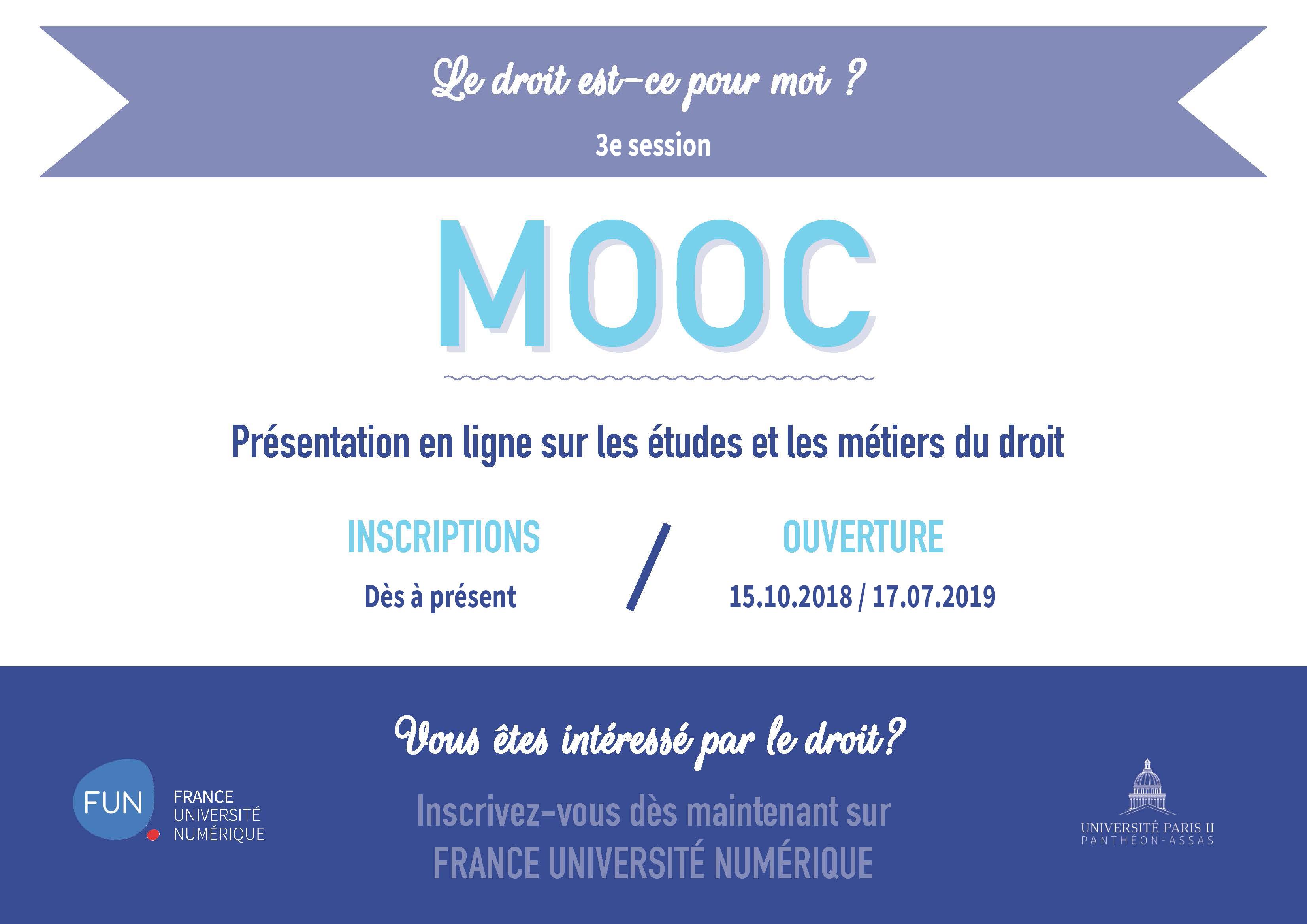 """3e session du MOOC """"Le droit est-ce pour moi ?"""""""