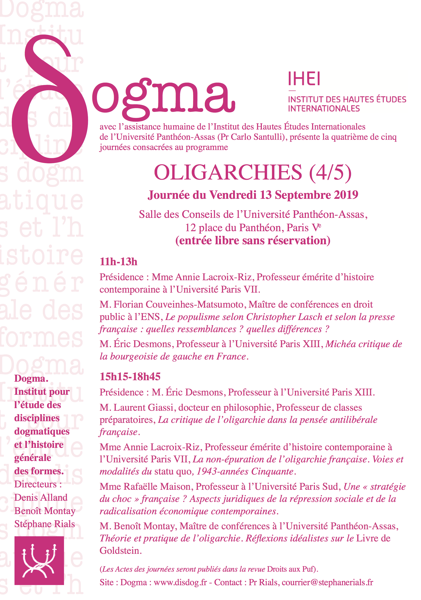 programme-journees-dogma-oligarchies-4-5