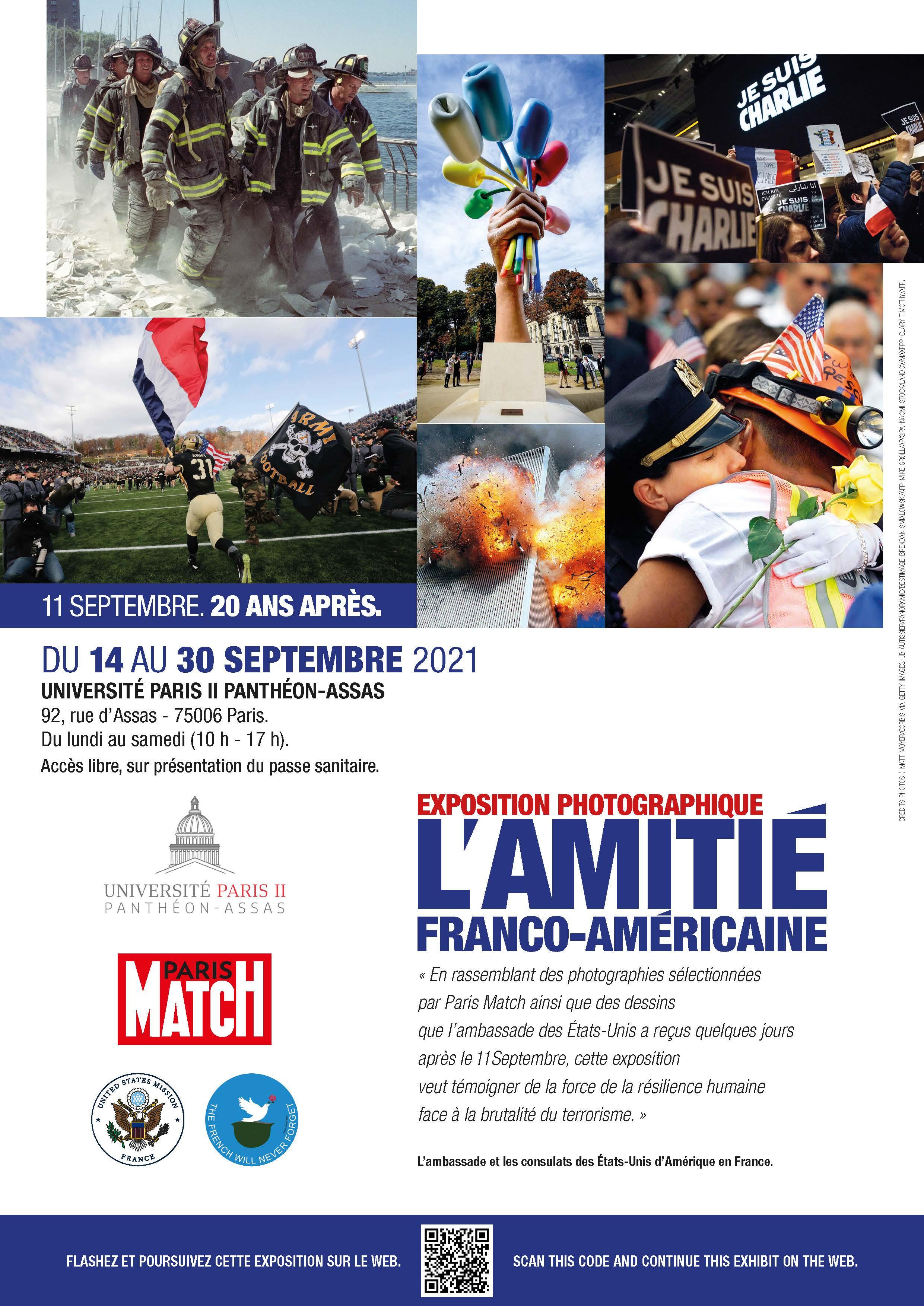 Affiche de l'exposition sur les 20 ans du 11 septembre