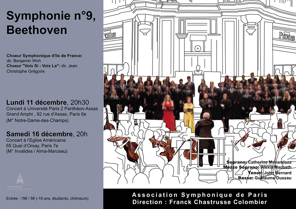 Grand concert d'Assas 2017, association symphonique de Paris