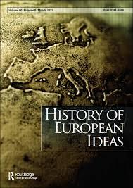 Couverture du livre History of European ideas