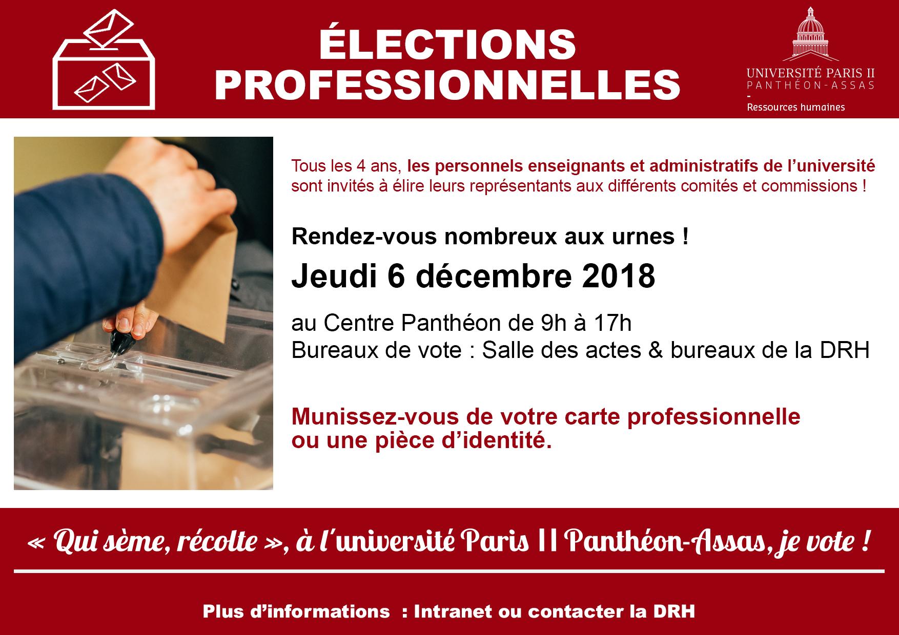 """Visuel élections """"Qui sème, récolte"""", à l'université Paris 2 Panthéon-Assas, je vote !"""