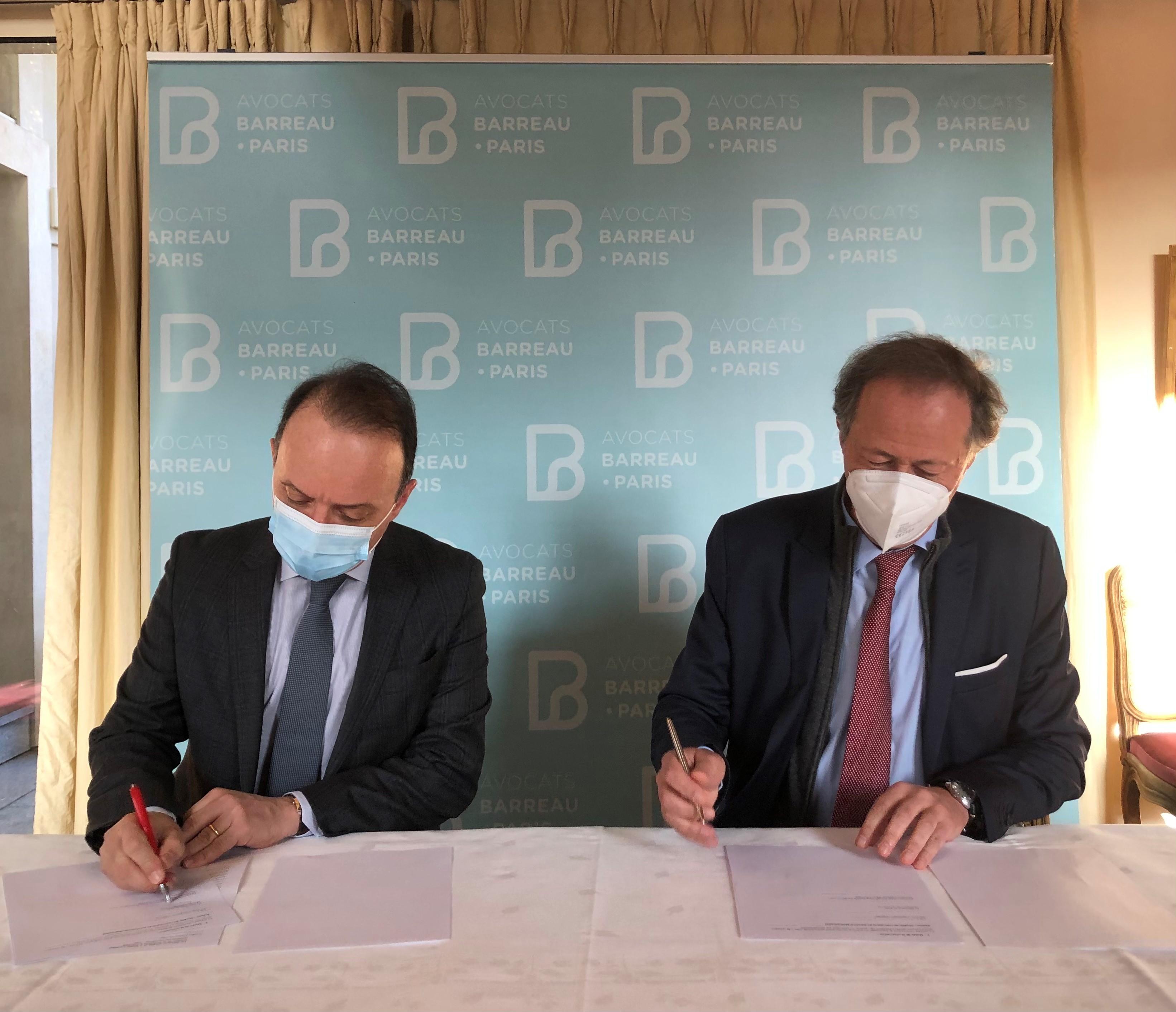 Convention de partenariat entre l'université Paris 2 et l'Ordre des avocats de Paris