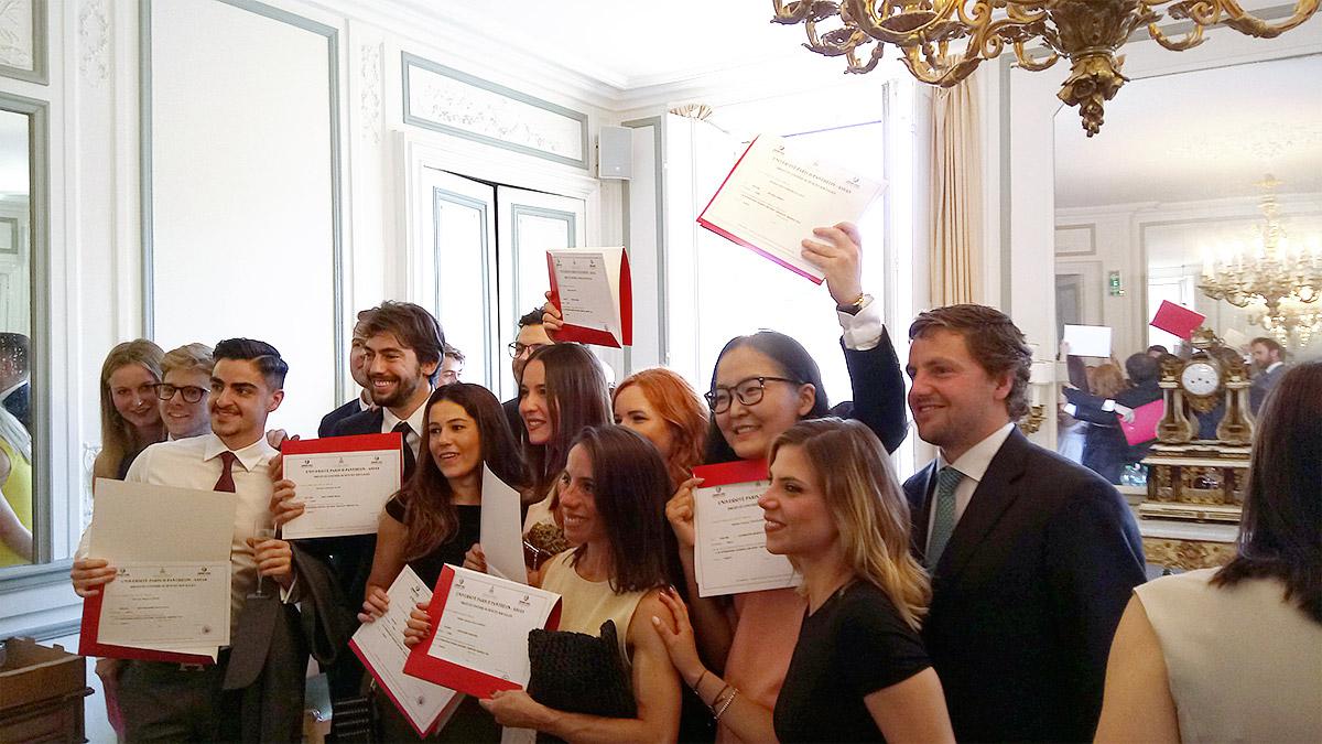 Les étudiants diplômés du LL.M. campus Paris