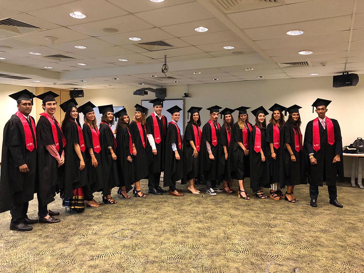 Les diplômés du LL.M. au campus de Singapour
