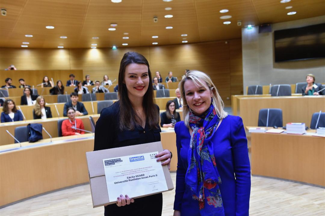 Cécile Huard, prix de la meilleure plaideuse au Concours René Cassin 2018