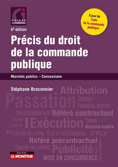 Couverture de l'ouvrage Précis du droit de la commande publique