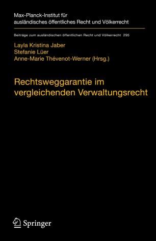 Couverture de l'ouvrage Rechtsweggarantie im vergleichenden verwaktungsrecht