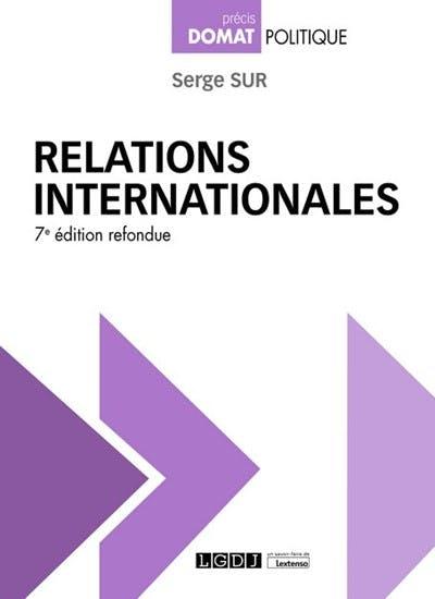 Couverture de l'ouvrage Relations internationales, 2021
