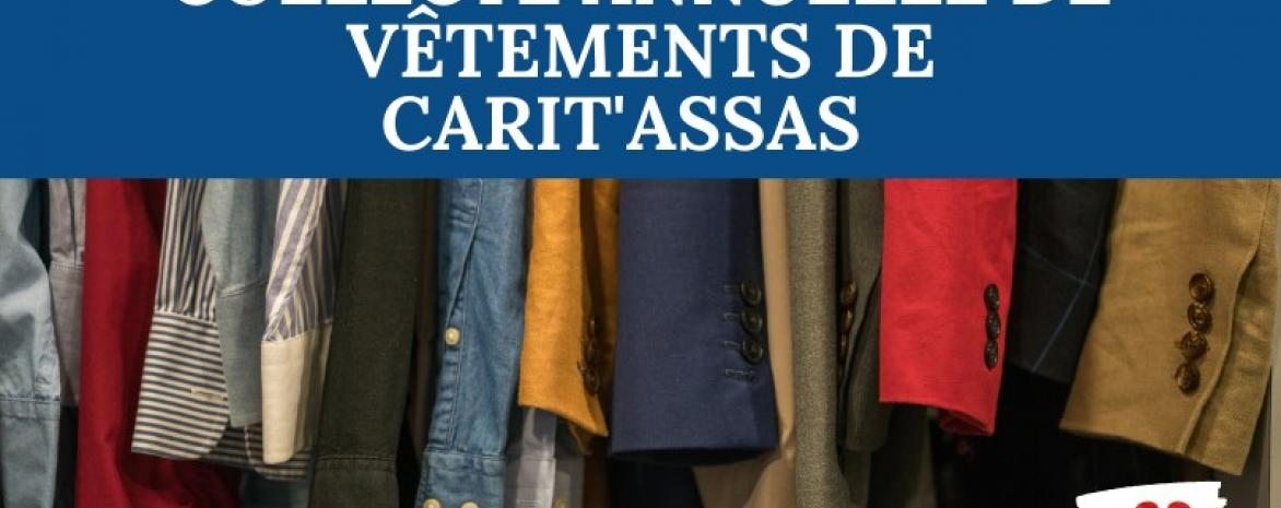 Affiche Collecte annuelle de vêtements par Carit'Assas