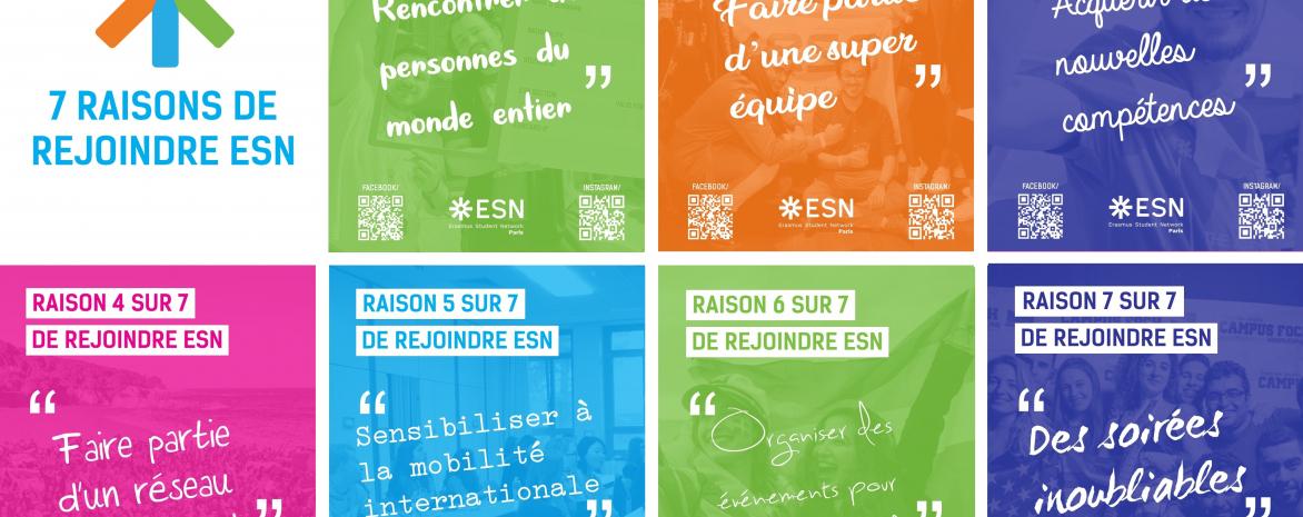 Visuel Recrutement ESN Paris (Erasmus Student Network)