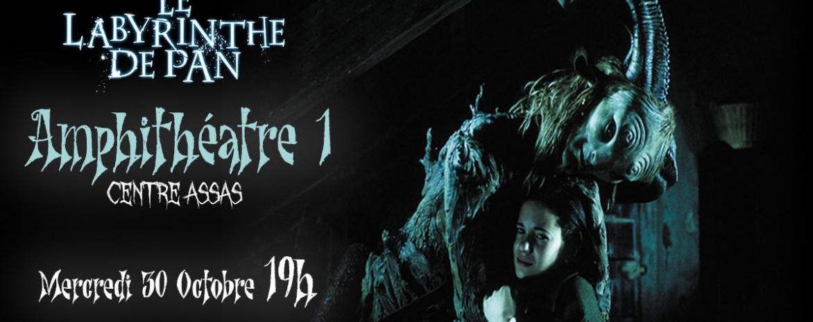 Affiche Projection Halloween - Le Labyrinthe de Pan