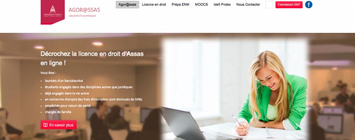 Page d'accueil d'Agor@ssas