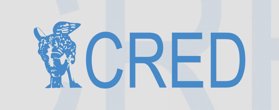 Infographie avec le logo du CRED de Paris 2