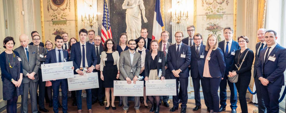 Photo de groupe de la remise des prix2018 Jones Day