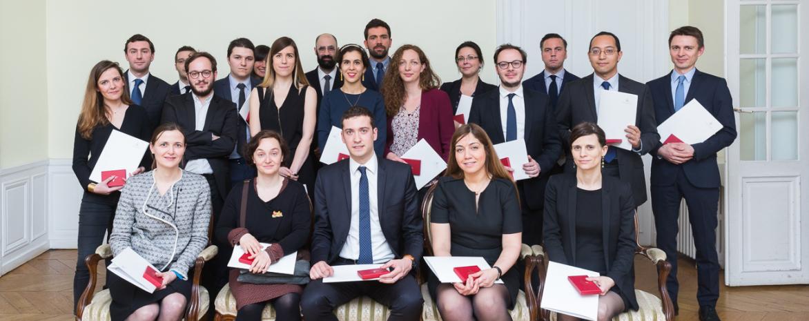 Photo des lauréats du Prix de thèse 2017 de l'université Paris 2