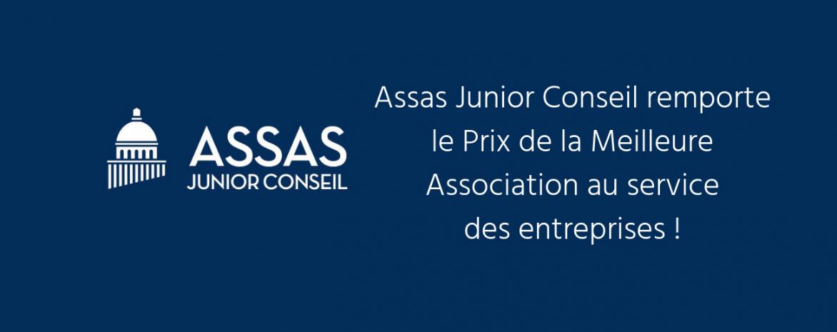 Visuel Assas Junior Conseil remporte le prix de la meilleure association au service des entreprises