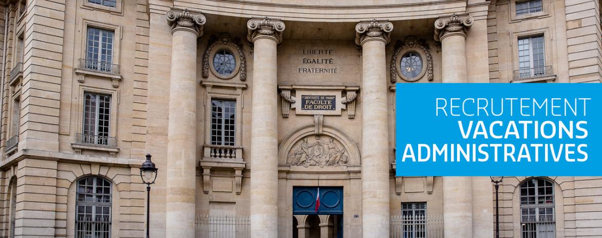 Visuel du Panthéon pour recrutement vacataires Administratifs