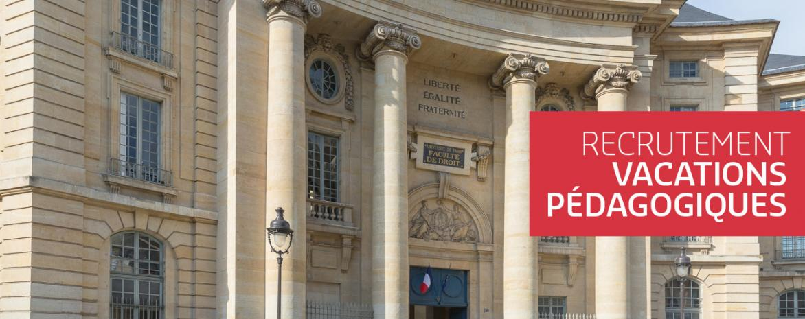 Visuel du Panthéon pour recrutement vacataires pédagogiques