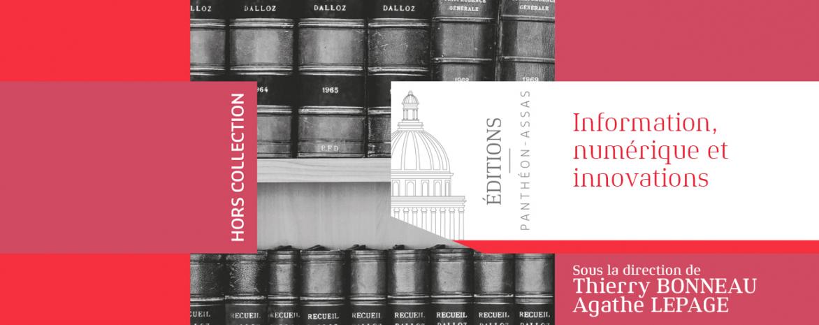 """Couvertue de l'ouvrage de Thierry Bonneau et Agathe Lepage """"Information, numérique et innovations"""""""