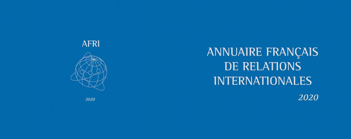 Couverture de l'ouvrage AFRI Annuaire français de relations internationales