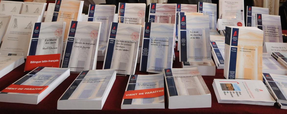 Couvertures des Editions Panthéon-Assas