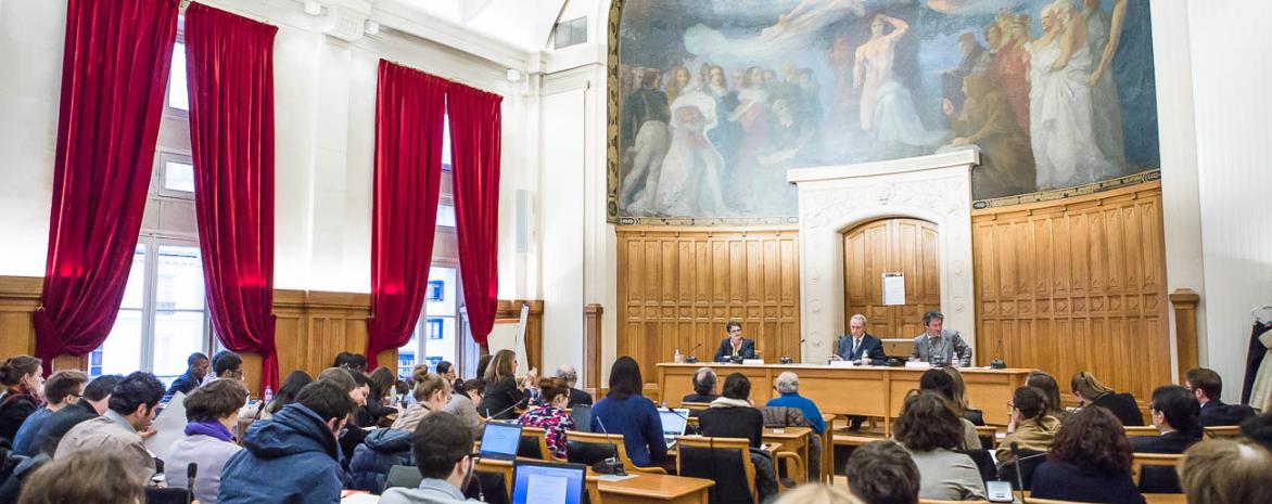 Salle des Conseils, centre Panthéon, 2016.