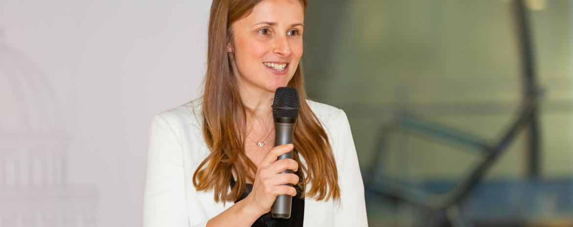 Marianne VERDIER lors du lancement de la Chaire finance digitale le 11 mars 2019 au centre Assas