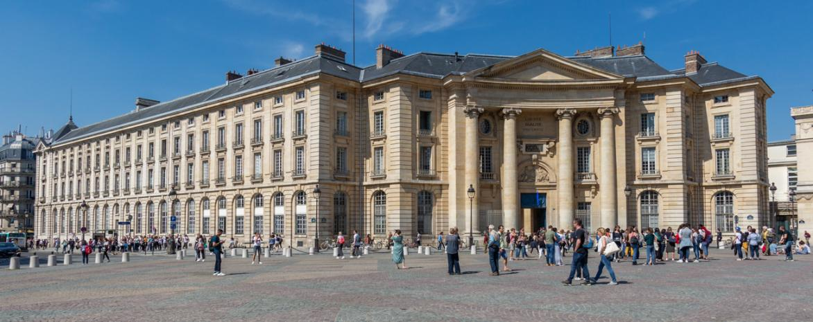 Visuel de l'entrée de l'université place du Panthéon