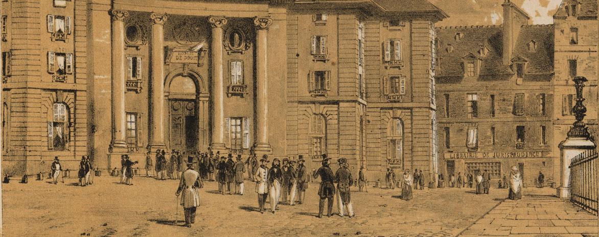 Ecole de droit, place du Panthéon en 1840