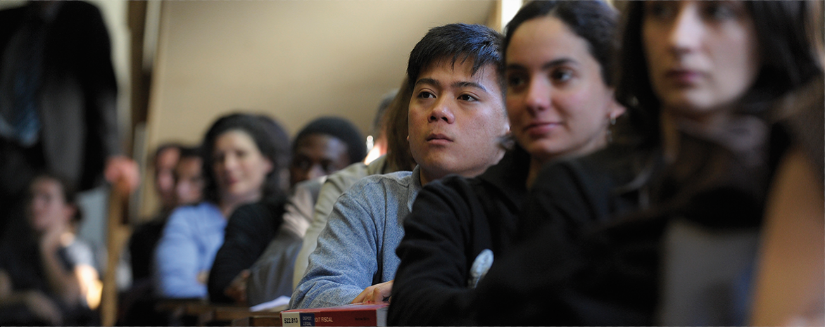 Etudiants étrangers en cours