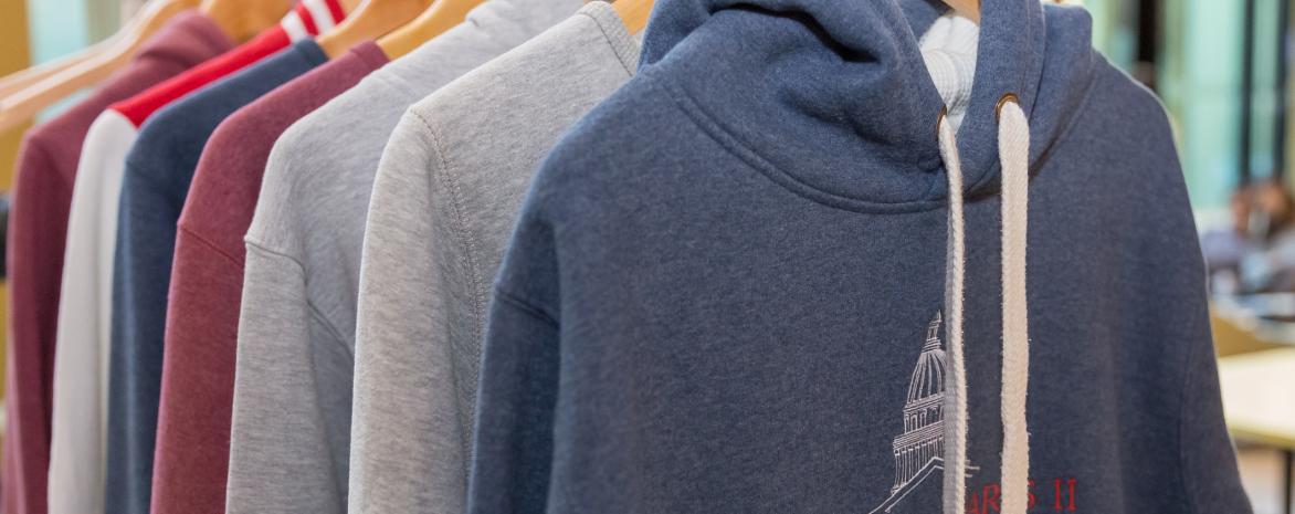 Gamme de produits de la boutique officielle de l'université Paris 2 Panthéon-Assas