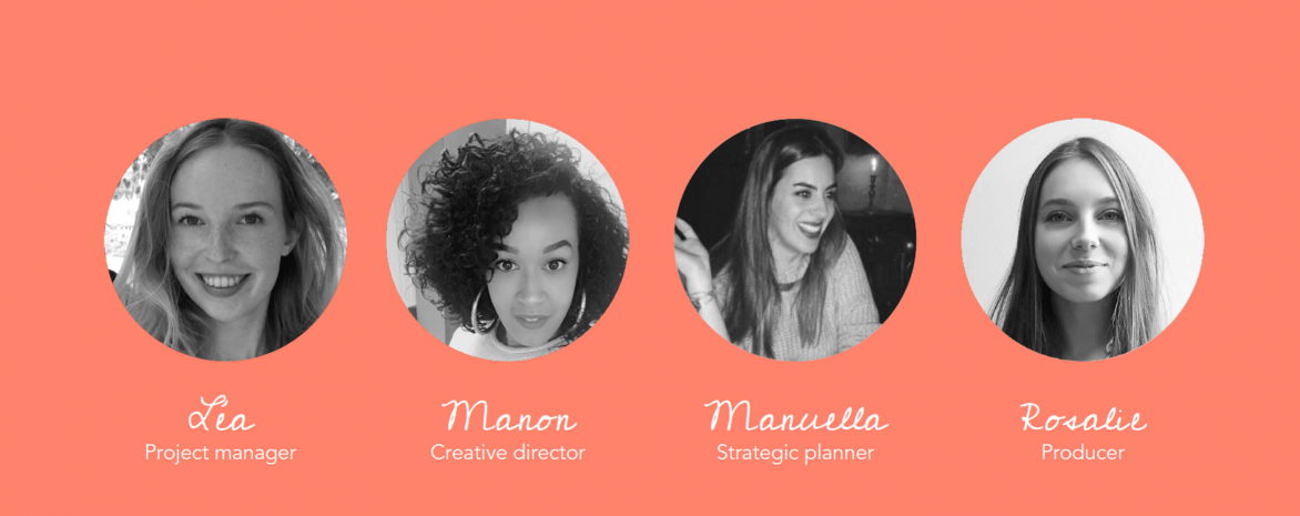 Le master MCE en finale de la compétition Ad Venture - Léa Myslinski, Manon Duma, Manuella Moreau et Rosaliee Vicidomini