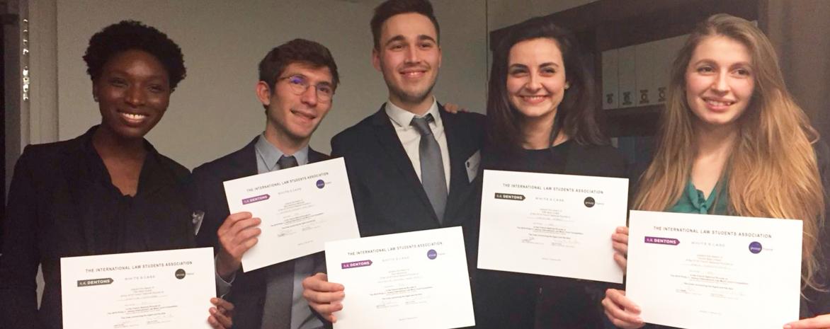 Les étudiants récompensés au concours de plaidoirie Jessup 2018