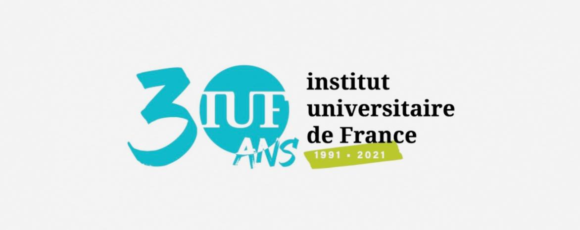 Logo des 30 ans de l'Institut universitaire de France (IUF)