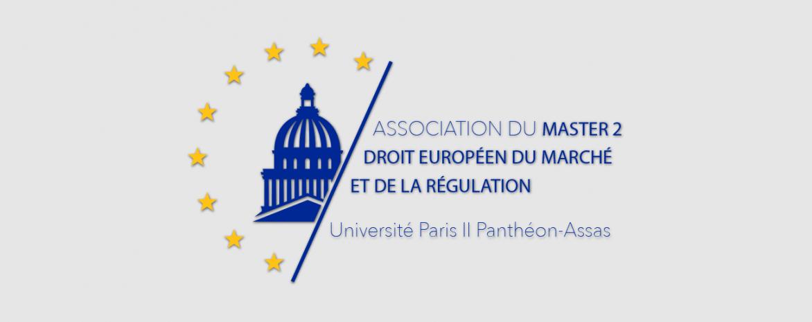 Logo de l'association du M2 Droit européen du marché et de la régulation (AM2DEMR)