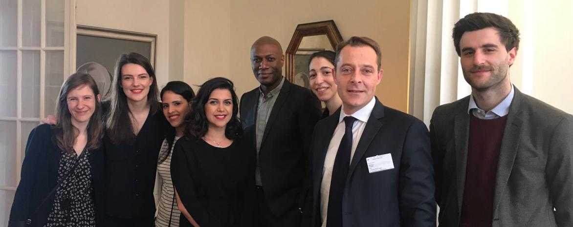 L'équipe du m2 Droits de l'homme et droit humanitaire au Concours René Cassin 2018