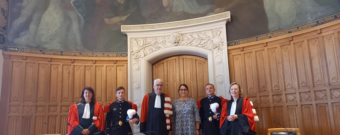Grand oral des élèves-officiers de l'école spéciale militaire de Saint-Cyr